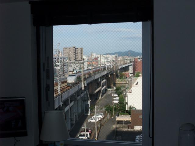 新幹線が見える