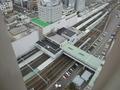 部屋から見た駅