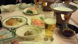 和洋折衷のバラエティーに富んだ夕食
