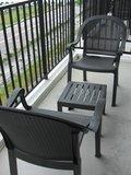 バルコニーのtable&chair
