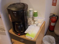 ロビーには無料のコーヒーが用意されていました