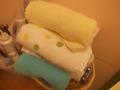 バスルーム内にもタオルの設置がありました