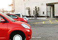 平面駐車場で大型車も安心駐車