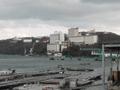 対岸から見たシーサイドホテル