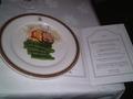 レストランの夕食です。