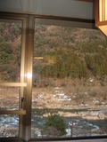 部屋の窓からの景色