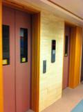 客室フロアのエレベーター