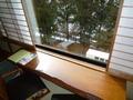 部屋の窓から見た景色