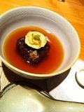 夕食の蓮根饅頭