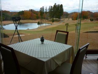 レストランのすぐ横はゴルフ場です。