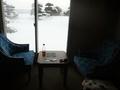 ペット部屋の椅子とテーブル
