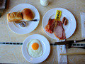 朝食はバイキング、種類も多く楽しいです。