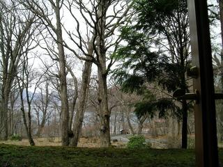 中禅寺金谷ホテルの客室から見た中禅寺湖