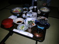 姥湯温泉桝形屋の夕食