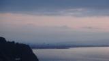 ホテルアンビア松風閣から見た富士山(うっすら)