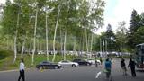 ヒルトンニセコビレッジの駐車場(ホテル側から見た全景)