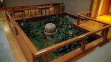 嵯峨沢館の部屋そばにあった「坪庭」