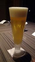 嵯峨沢館の夕食「ビール」(グラス)