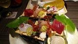 嵯峨沢館の夕食「海の幸」