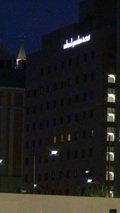 三井ガーデンホテル岡山の外観(夜景)