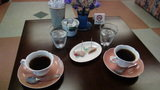 白骨の名湯 泡の湯の朝のサービスのコーヒー