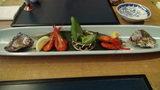 小樽旅亭蔵群の夕食の先付・前菜