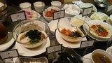 ヒルトン東京の1F「マーブルラウンジ」のビュッフェの蕎麦・韓国冷麺