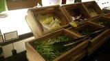 ヒルトン東京の1F「マーブルラウンジ」のビュッフェの新鮮野菜
