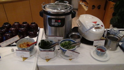 グランドプリンスホテル京都のポンドカフェの朝食の味噌汁