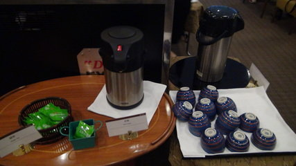 グランドプリンスホテル京都のポンドカフェの朝食のお茶