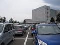 ホテル前の駐車場