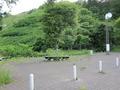 朝里川温泉にあるパーキングエリア
