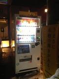 ホテル前の自動販売機