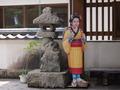 玄関前の「伊豆の踊り子」