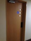 客室階のトイレ入り口