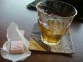 ウェルカムドリンクとお菓子