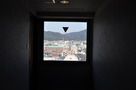 宿泊階の廊下からみる風景