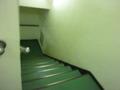 本館から地下駐車場に降りる階段