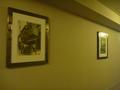 ホテルの廊下の壁にはUSJ(米)の写真が沢山