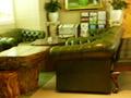 豪華な皮のソファー