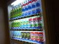 スパ・プールの更衣室の横に飲料の自販機有