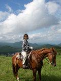 こんなキレイな場所までお馬さんに乗って(^◇^)