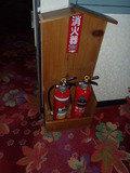 1階フロントロビーの消火器