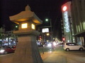 鹿児島の繁華街 天文館にある大きな常夜灯