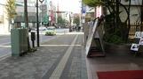 ホテル前の歩道。