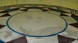 床の模様。