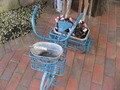 青い三輪車。
