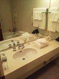 洗面台はまずまずの広さ。