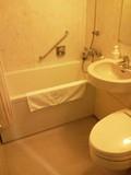 広めのバスルーム。