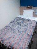 ベッドは十分な広さです。